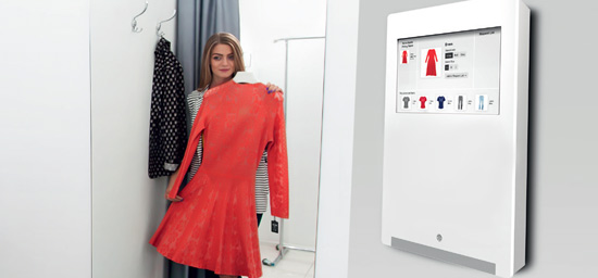 smart fitting room entry